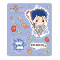 Fate/Grand Order Design produced by Sanrio Stand up! Acrylic Mascot - Cu Chulainn (Caster)