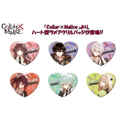 Collar x Malice Heart Lame Acrylic Badge
