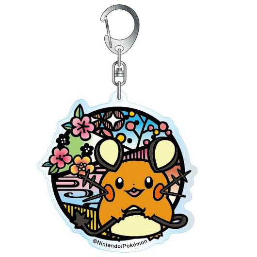 Pokemon Kirie Series Acrylic Key Chain Dedenne A (7)