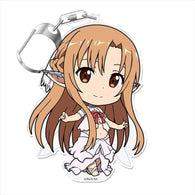 Sword Art Online Puni Colle! Key Chain with Stand - Asuna Titania Fairy Dance
