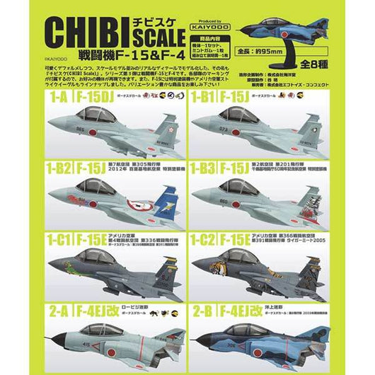 Chibi Scale Fighter F-15 & F-4