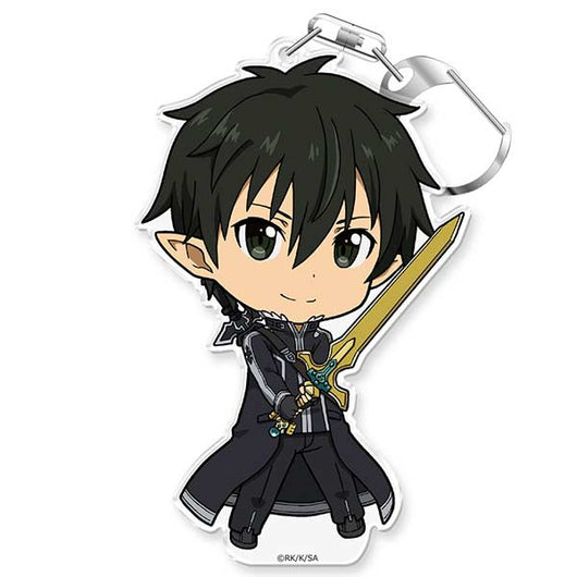 Sword Art Online Puni Colle! Key Chain with Stand - Kirito Caliber