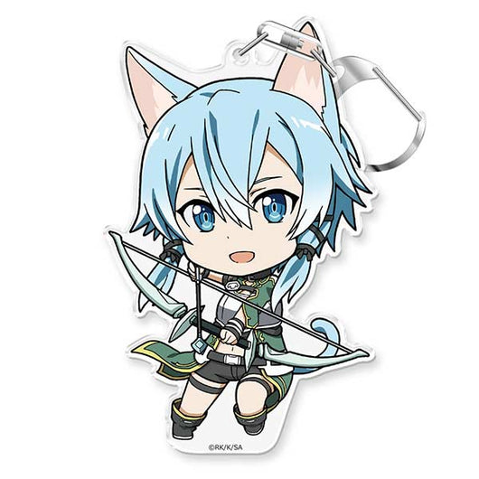 Sword Art Online Puni Colle! Key Chain with Stand - Sinon Caliber