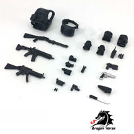 (PO) DH-E001A 1/12 SCALE ACTION FIGURE EQUIPMENT SET A (ASSAULT) (6)