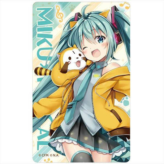 Hatsune Miku x Rascal the Raccoon 2018 Luminous IC Card Sticker Ver. 2