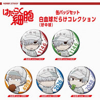 (PO) Cells at Work! Can Badge Set White Blood Cell (Neutrophil) Darake Collection (2)