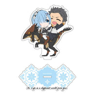 (PO) Re:Zero Starting Life in Another World CharaRide Acrylic Stand - Subaru & Rem on Patrasche (7)