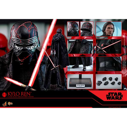 (PO) MMS560 - Star Wars: The Rise of Skywalker Kylo Ren Collectible Set (9)