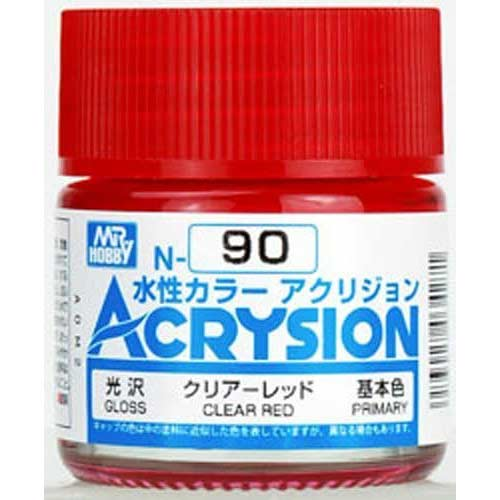 Mr.Hobby Acrysion Color 090: Clear Red Gloss (10ml)