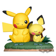 Pokemon Relax Time - Pichu & Pikachu Figure