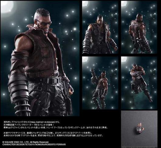 Final Fantasy VII Remake Play Arts Kai - Barret Wallace
