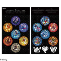 Kingdom Hearts Stained Glass Clear Sticker Set