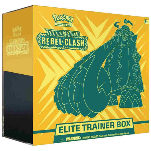 Pokemon Sword & Shield TCG SS2 Rebel Clash Elite Trainer Box