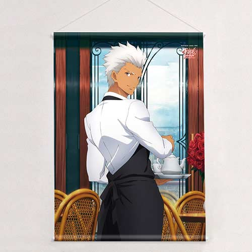 Fate/stay night UBW Original Illustration B2 Tapestry Archer / Cafe with Limited Clear File
