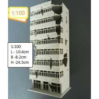 Diorama Building 1:100 Scale - Building B