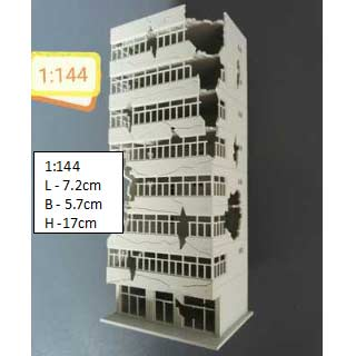 Diorama Building 1:144 Scale - Building B