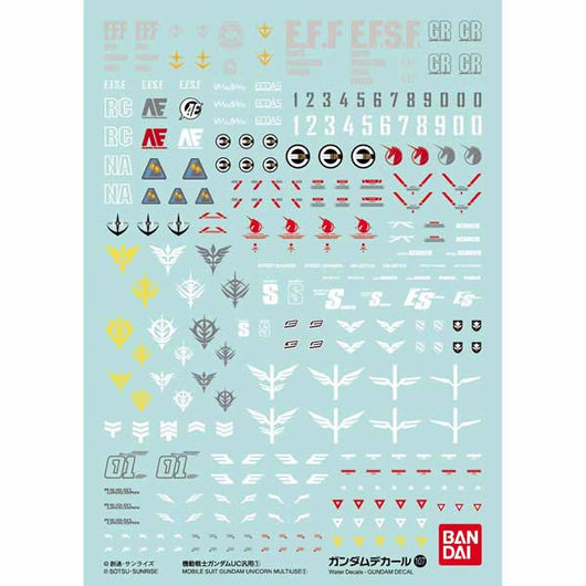 Gundam Decal No.107 Gundam Unicorn Multiuse 1