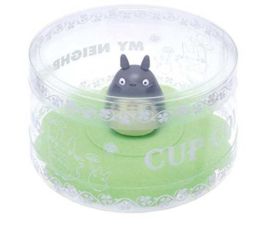 My Neighbor Totoro Silicon Cup Cover Anti-dust Glass Mug Suction Lid Cap Leaf