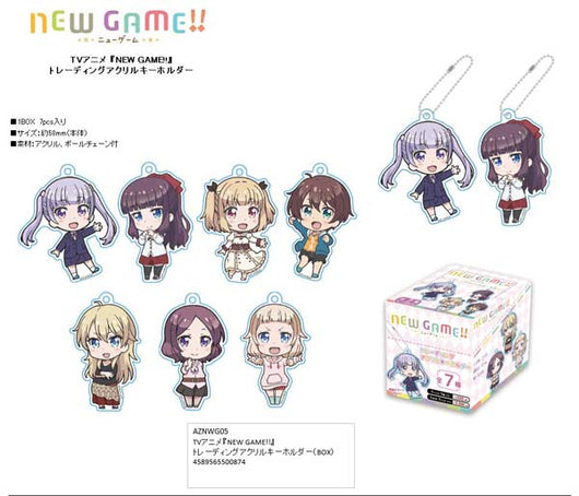 (PO) New Game! Trading Acrylic Key Chain (9)