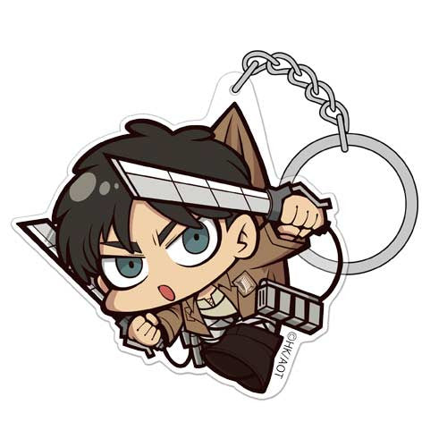 (PO) Attack on Titan Eren Acrylic Tsumamare Key Chain Ver. 3.0 (10)
