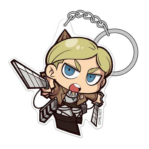 (PO) Attack on Titan Erwin Acrylic Tsumamare Key Chain Ver. 3.0 (10)
