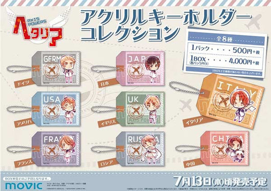 (PO) Axis Powers Hetalia Acrylic Key Chain Collection (7)