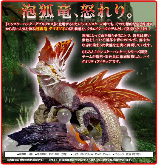 (PO) Capcom Figure Builder Creators Model Monster Hunter XX - Mizutsune Anger Ver. (5)