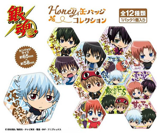 (PO) Gintama Honey Can Badge Collection (5)