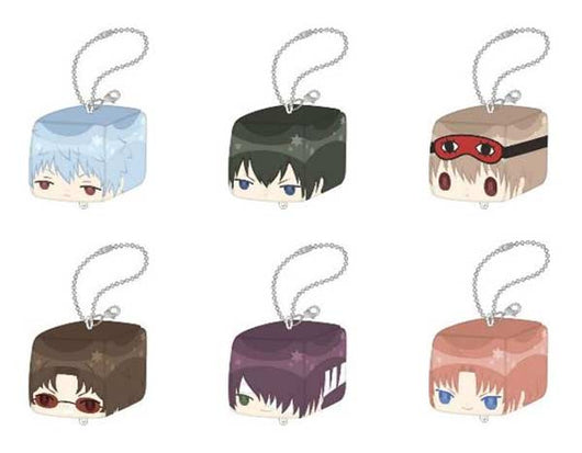 Gintama Plush Key Chain Collection Face Cube
