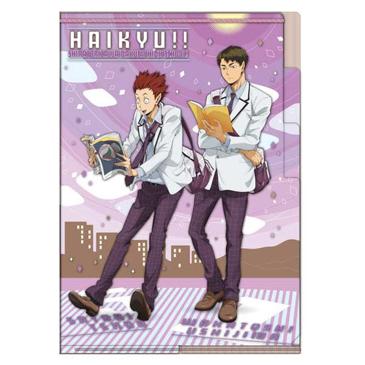 Haikyu! 3 Pocket Clear File Going Back - Ushijima & Tendo