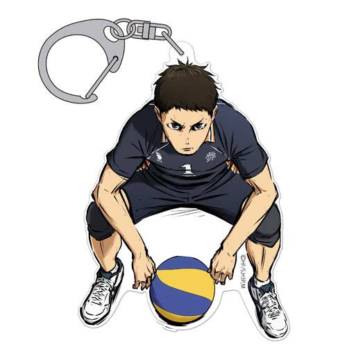 (PO) Haikyu! - Daichi Sawamura Acrylic Key Ring Fighting Spirit (6)