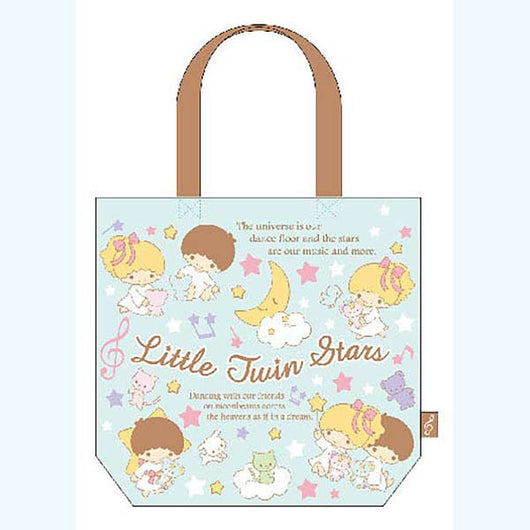(PO) Little Twin Stars Odekake Tote Bag Mint (7)