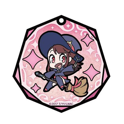 (PO) Little Witch Academia Stained Glass Art Key Chain - Atsuko Kagari (6)