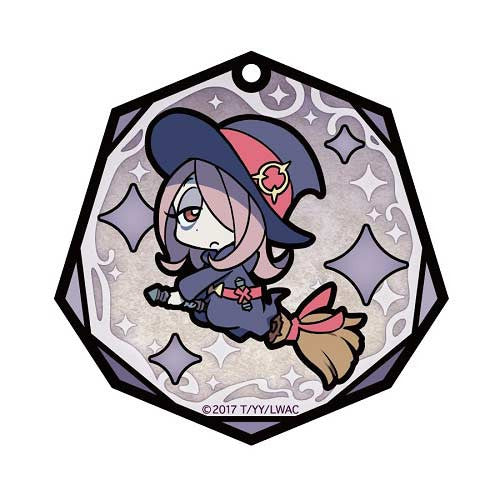 (PO) Little Witch Academia Stained Glass Art Key Chain - Sucy Manbavaran (6)