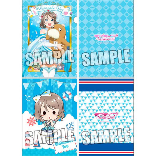 Love Live! Sunshine! Clear File 2 Set Cushion Plush Hug Ver. - You