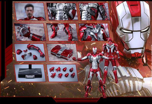 (PO) MMS400D18 Iron Man 2 - Mark V Diecast (Q1 2018)