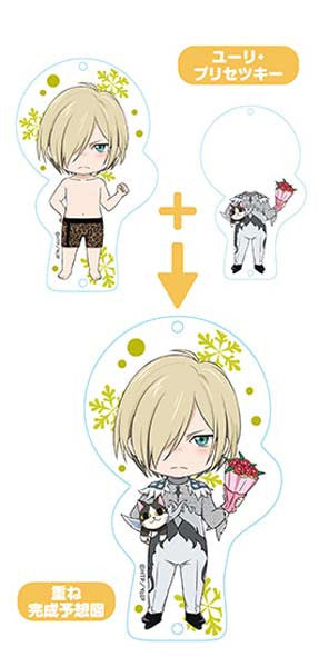 Nendoroid Plus Yuri! on Ice Dress Up Acrylic Key Chain - Yuri Plisetsky