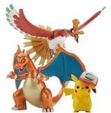 Pokemon Plastic Model Collection - Ho-oh & Charizard & Ash Ketchum's Pikachu