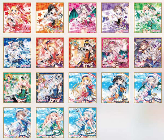 Shirokuro Tennis Dream Collabo Idol Cats Trading Mini Shikishi