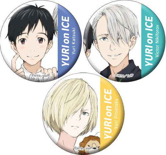 Yuri! on Ice Can Badge Set C