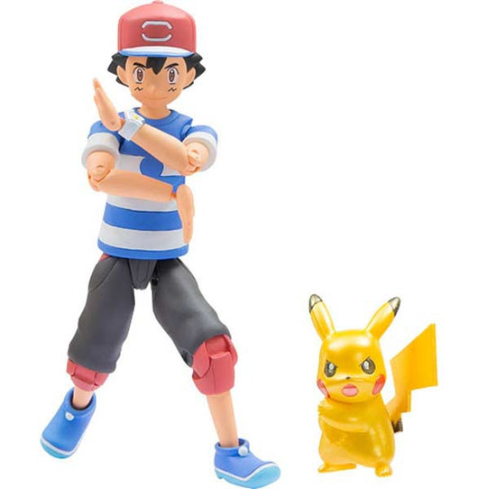 Pokemon Moncolle EX - Ash & Pikachu Z-move Pose set (Metallic ver.)