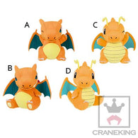 Pokemon Sun & Moon Round Plush - Charizard, Dragonite