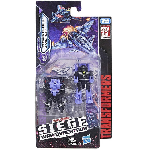 Transformers Generations War For Cybertron: Siege Micromasters Storm Cloud & Visper