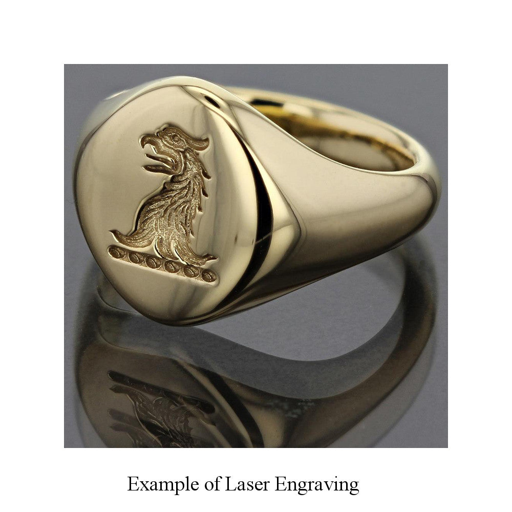 9ct Yellow Gold 12 x 10mm Cushion Signet Ring
