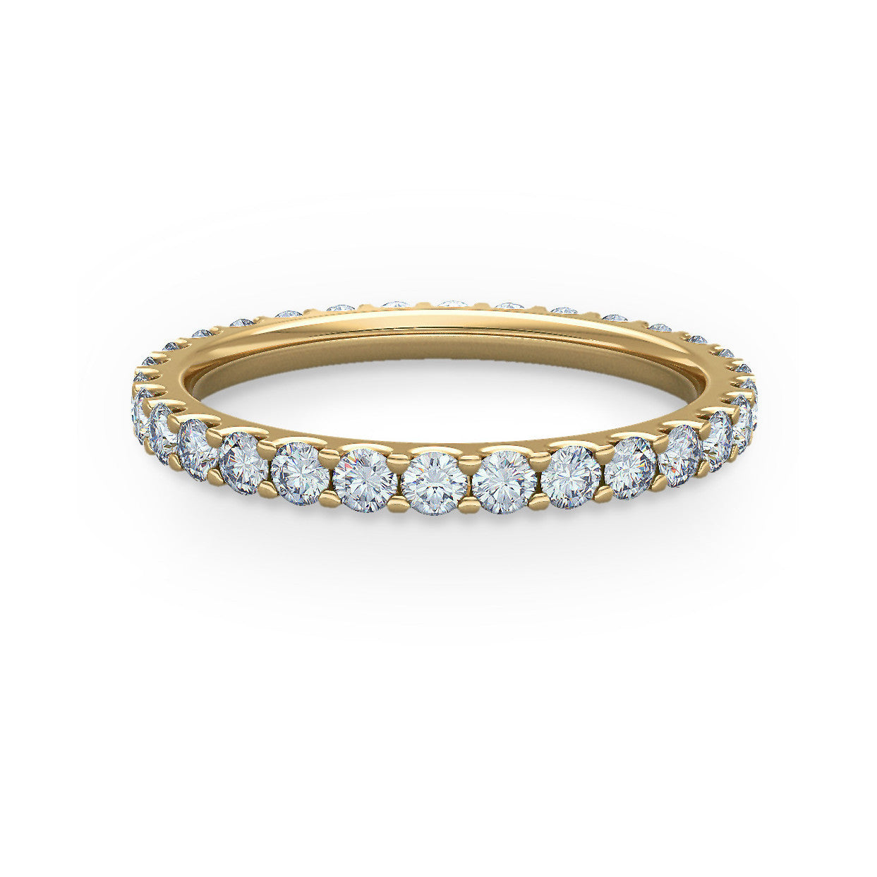 in eternity wb french diamond yellow bands pav gold pave band
