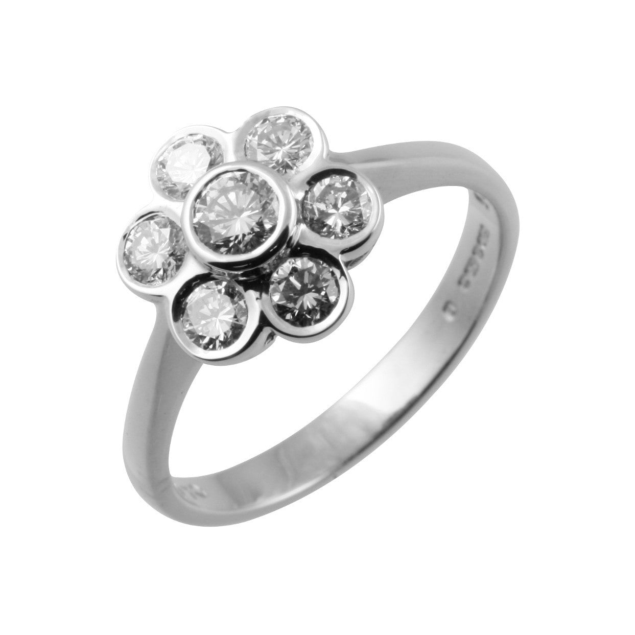 rings this jewelry flower engagement bezel black wedding to add daisy with rg ring sku in diamond cart women nl rose gold