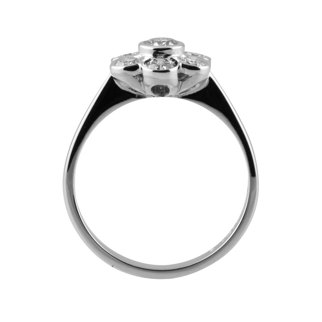 Daisy Style Diamond Cluster Ring