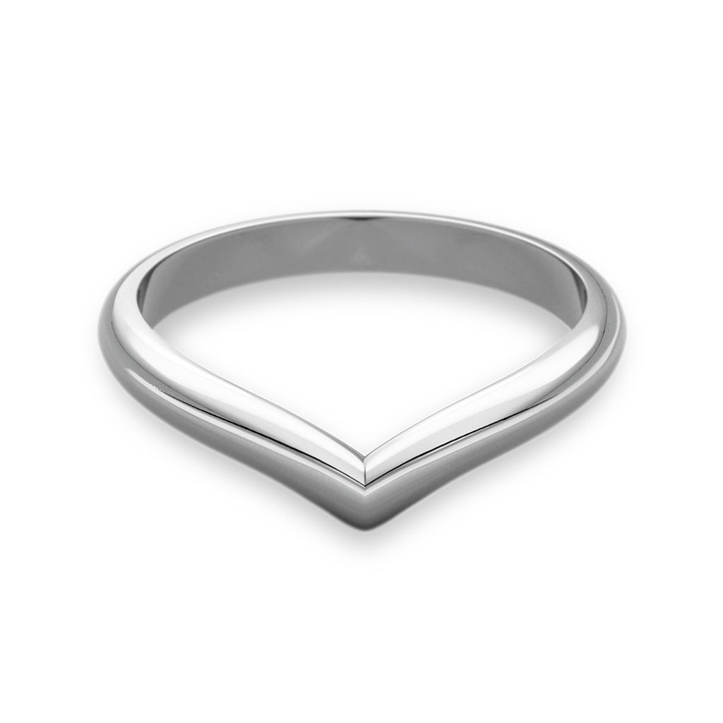 Wishbone Shaped Wedding Ring