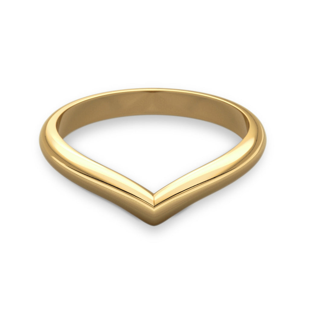 Wishbone Shaped Gold Wedding Ring
