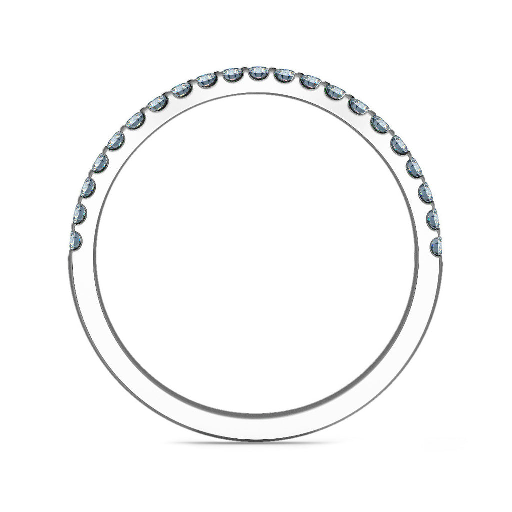 1.5mm Curve Shaped Ring with Micro Claw Set Diamonds